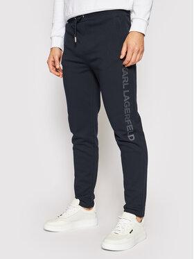 KARL LAGERFELD KARL LAGERFELD Teplákové kalhoty 705013 511900 Tmavomodrá Regular Fit