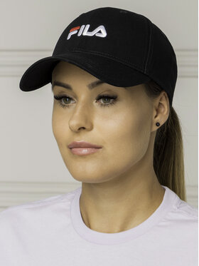 Fila Fila Шапка с козирка 6 Panel Cap Strap Back Linear Logo 686029 Черен