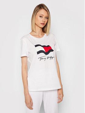Tommy Hilfiger Tommy Hilfiger T-shirt Motion Flag WW0WW33103 Blanc Regular Fit