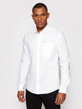 Calvin Klein Calvin Klein Košile K10K107021 Bílá Slim Fit
