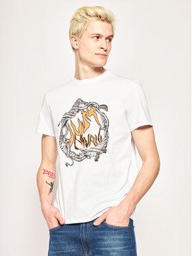 Just Cavalli Just Cavalli T-Shirt S01GC0608 Biały Regular Fit