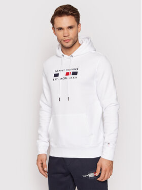 Tommy Hilfiger Tommy Hilfiger Суитшърт Four Flags MW0MW20132 Бял Regular Fit