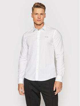 Calvin Klein Calvin Klein Koszula Poplin K10K107783 Biały Slim Fit