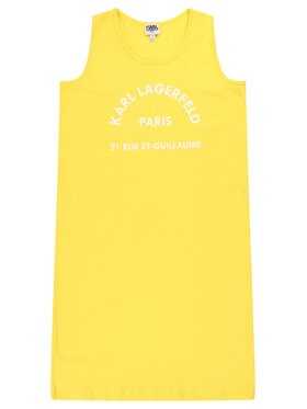 KARL LAGERFELD KARL LAGERFELD Robe de jour Z12148 D Jaune Regular Fit
