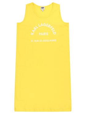 KARL LAGERFELD KARL LAGERFELD Sukienka codzienna Z12148 D Żółty Regular Fit