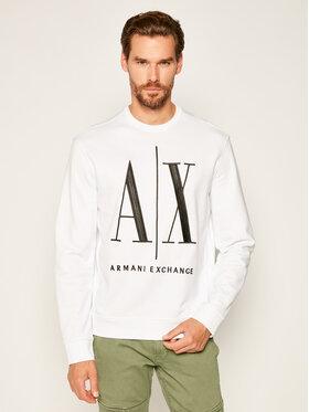 Armani Exchange Armani Exchange Sweatshirt 8NZMPA ZJ1ZZ 1100 Weiß Regular Fit
