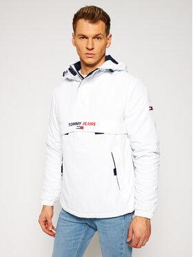 Tommy Jeans Tommy Jeans Übergangsjacke Solid Popover DM0DM08760 Weiß Regular Fit