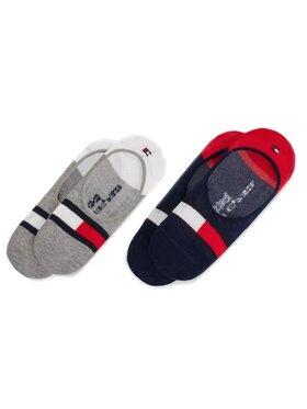 Tommy Hilfiger Tommy Hilfiger Sada 2 párů dětských kotníkových ponožek 394001001 Tmavomodrá