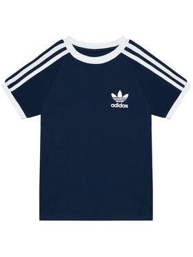 adidas adidas Marškinėliai 3-Stripes GN8218 Tamsiai mėlyna Standard Fit