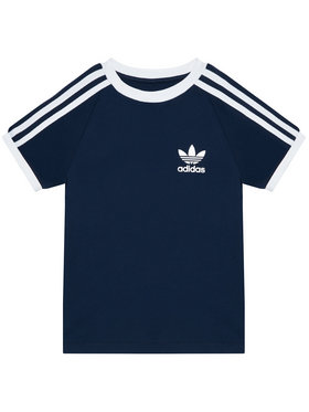 adidas adidas T-Shirt 3-Stripes GN8218 Granatowy Standard Fit