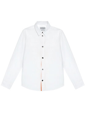 Guess Guess Koszula L1RH01 WDLI0 Biały Regular Fit