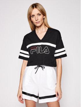 Fila Fila T-Shirt Jaina 683297 Μαύρο Cropped Fit