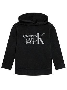 Calvin Klein Jeans Calvin Klein Jeans Džemperis Hybrid Logo IB0IB00799 Juoda Regular Fit