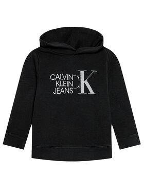 Calvin Klein Jeans Calvin Klein Jeans Pulóver Hybrid Logo IB0IB00799 Fekete Regular Fit