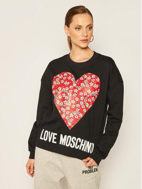 LOVE MOSCHINO LOVE MOSCHINO Majica dugih rukava W640401M 4055 Crna Regular Fit