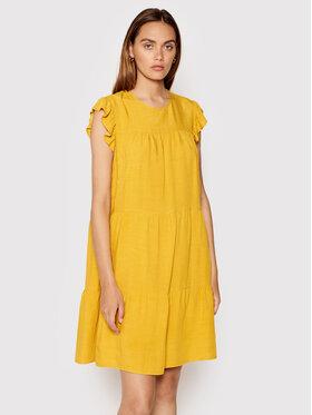Rinascimento Rinascimento Sukienka letnia CFC0103416003 Żółty Regular Fit