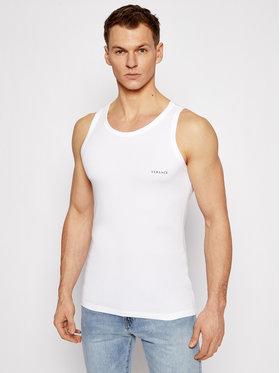 Versace Versace Tank top marškinėliai Canotta AUU04022 Balta Slim Fit