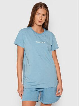 PLNY LALA PLNY LALA T-shirt Classic PL-KO-CL-00243 Bleu Regular Fit