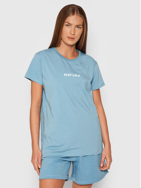 PLNY LALA PLNY LALA T-shirt Classic PL-KO-CL-00243 Plava Regular Fit