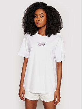 Vans Vans T-shirt Check Together VN0A54VI Bijela Oversized Fit