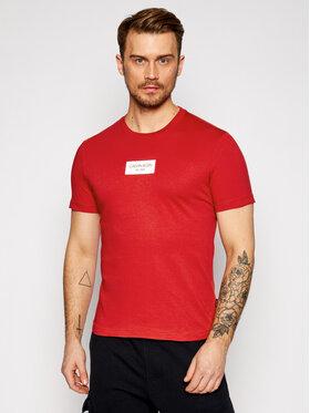 Calvin Klein Calvin Klein Tričko Chest Box Logo K10K106484 Červená Regular Fit