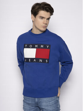 Tommy Jeans Tommy Jeans Felpa Tjw Flag Crew DM0DM07201 Blu Regular Fit