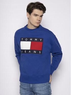 Tommy Jeans Tommy Jeans Mikina Tjw Flag Crew DM0DM07201 Modrá Regular Fit