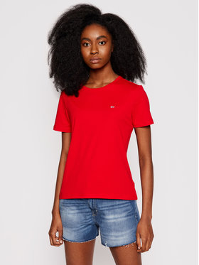 Tommy Jeans Tommy Jeans Marškinėliai Tjw Soft Jersey DW0DW06901 Raudona Regular Fit