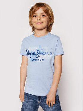 Pepe Jeans Pepe Jeans Тишърт Golders Jk PB501338 Син Regular Fit