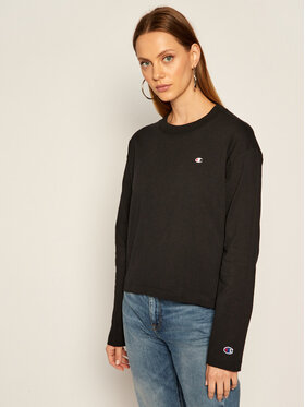 Champion Champion Blúz Crewneck 113365 Fekete Relaxed Fit
