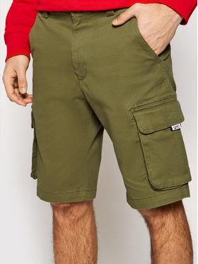Tommy Jeans Tommy Jeans Šortky z materiálu Washed Cargo DM0DM11078 Zelená Regular Fit