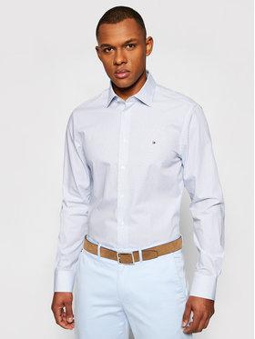 Tommy Hilfiger Tailored Tommy Hilfiger Tailored Camicia Cl Mini All Over Print MW0MW18450 Blu Regular Fit