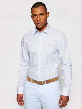 Tommy Hilfiger Tailored Tommy Hilfiger Tailored Koszula Cl Mini All Over Print MW0MW18450 Niebieski Regular Fit