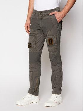 Aeronautica Militare Aeronautica Militare Kalhoty z materiálu 211PA1387CT1493 Šedá Regular Fit