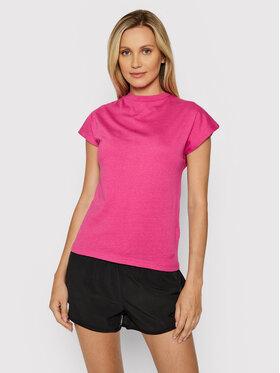 4F 4F T-Shirt H4L21-TSD038 Różowy Regular Fit