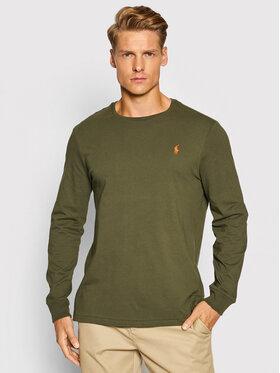 Polo Ralph Lauren Polo Ralph Lauren Тениска с дълъг ръкав Lsl 710671468045 Зелен Slim Fit