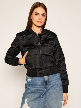 Guess Guess Bomber striukė Elly W0YL59 WD1V0 Juoda Regular Fit
