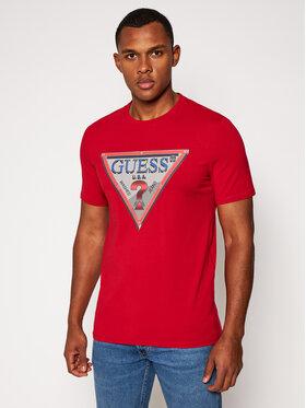 Guess Guess T-Shirt M0BI58 J1300 Czerwony Slim Fit