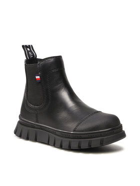 Tommy Hilfiger Tommy Hilfiger Kozaki Chelsea Boot T3A5-32025-0289 M Czarny