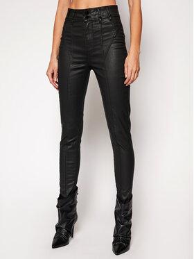 Guess Guess Kalhoty z imitace kůže Corset Biker W1RA69 D3OZ1 Černá Slim Fit
