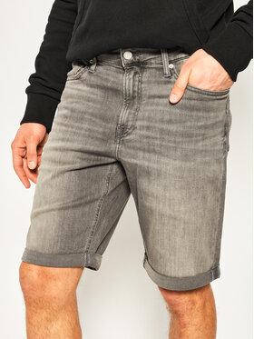 Calvin Klein Jeans Calvin Klein Jeans Szorty jeansowe J30J314649 Szary Slim Fit