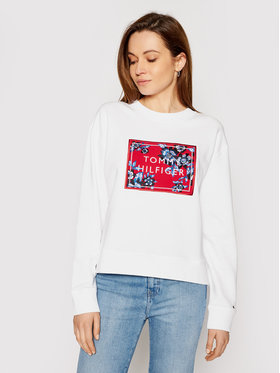 Tommy Hilfiger Tommy Hilfiger Sweatshirt Relaxed Floral WW0WW30829 Blanc Relaxed Fit