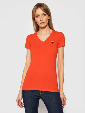 Guess Guess T-shirt Mini Triangle W1GI17 J1311 Orange Slim Fit