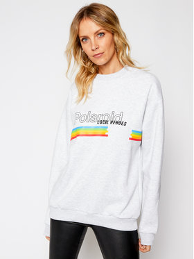 Local Heroes Local Heroes Bluza Classic Polaroid LHPLS0003 Szary Oversize