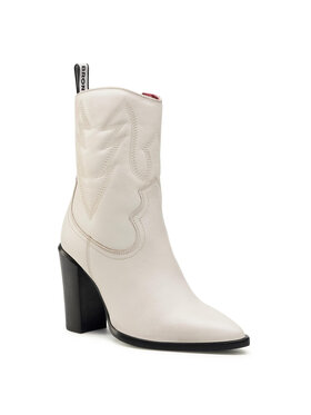 Bronx Bronx Členková obuv 34115-B Biela