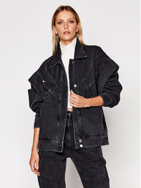 Iro Iro Kurtka jeansowa Buckye AN116 Czarny Regular Fit