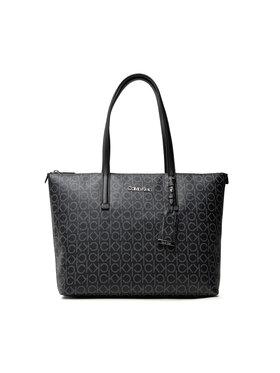 Calvin Klein Calvin Klein Rankinė Ck Must Shopper Md Mono K60K608623 Juoda