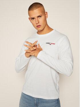 Tommy Jeans Tommy Jeans Тениска с дълъг ръкав DM0DM09402 Бял Regular Fit