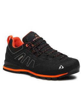 Bergson Bergson Παπούτσια πεζοπορίας Kibo Low Stx Μαύρο