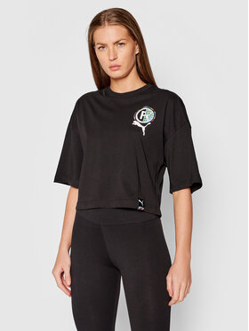 Puma Puma T-Shirt International Graphic 599702 Černá Relaxed Fit